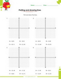 Worksheets on Graphing functions pdf for kids