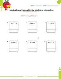 Free Multi Step Inequalities Worksheets Pdf For Kids