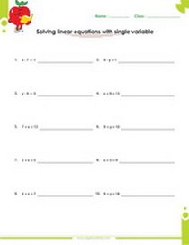 Solving Graphing Linear Equations Worksheets Pdf
