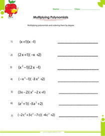Quiz Worksheet Subtract Multiply Polynomials Study Com Long ...