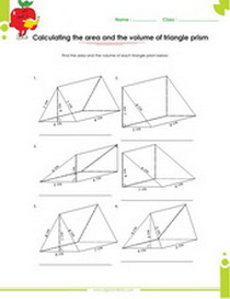 Surface Area Of A Prism Worksheet Worksheets for all | Download ...