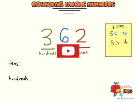 rounding whole number video tutorial for kids, how to round up or down whole numbers, Adding and subtracting whole numbers with 4 digits game, whole numbers addition and subtraction game for kids, add and subtract whole numbers penalty shootout game